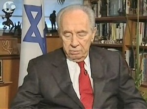 Shimon Peres - president of Israel - probably won't be going to The Hague!